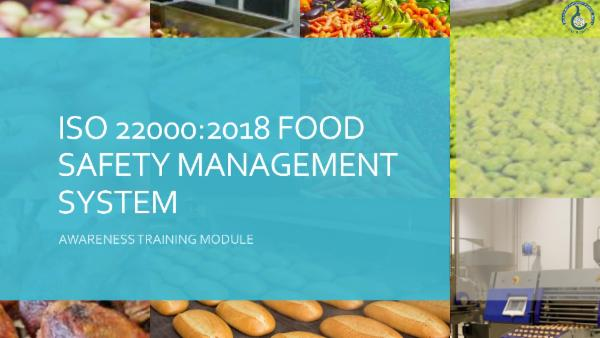 ISO 22000:2018 - Awareness Course cover